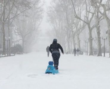 Montpellier sous la neige… il y a 3 ans !