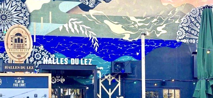 Montpellier : un marché paysan devant les Halles du Lez