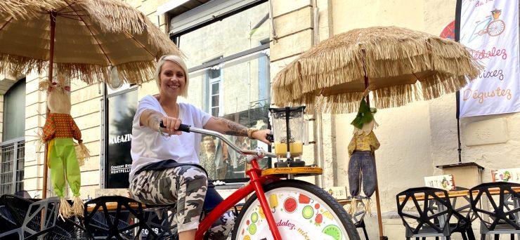 On a testé le vélo à smoothie chez Amandeous