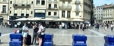 Montpellier : au revoir les blocs en béton sur la Comédie