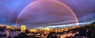 Montpellier sous un sublime arc en ciel