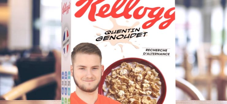 Montpellier : il publie son CV sur une boite de Kelloggs