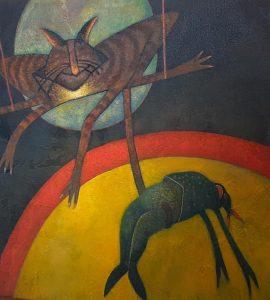 Taprah dévoile son art sur les murs de la Galerie Marc Devaux