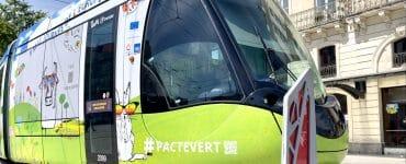 Montpellier : un tram habillé aux couleurs de l'Europe
